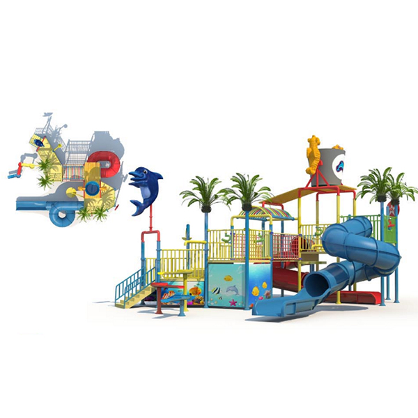 Fiberglass Water Park Water Play House for Kids Featured Image
