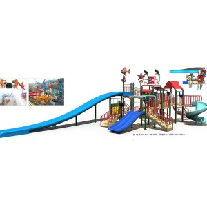 Fiberglass Water Park Water Play House for Kids