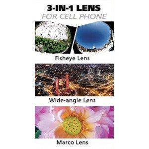 3 in 1 fisheye lens for iphone-mobile phone wide angle lens-phone marco lens