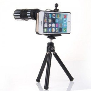 iphone telescope lens-12x iphone telephoto lens mount-optake metal monocular-wide angle camera eyepiece adaptor