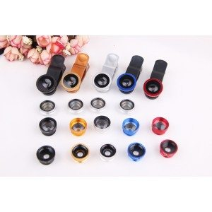 iphone clip lens-5 in 1 lens for smartphone-universal clip lens kit for mobile phone