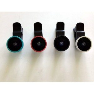Fisheye lens-iPhone clip lens-clip fisheye 185 degree-universal camera lens