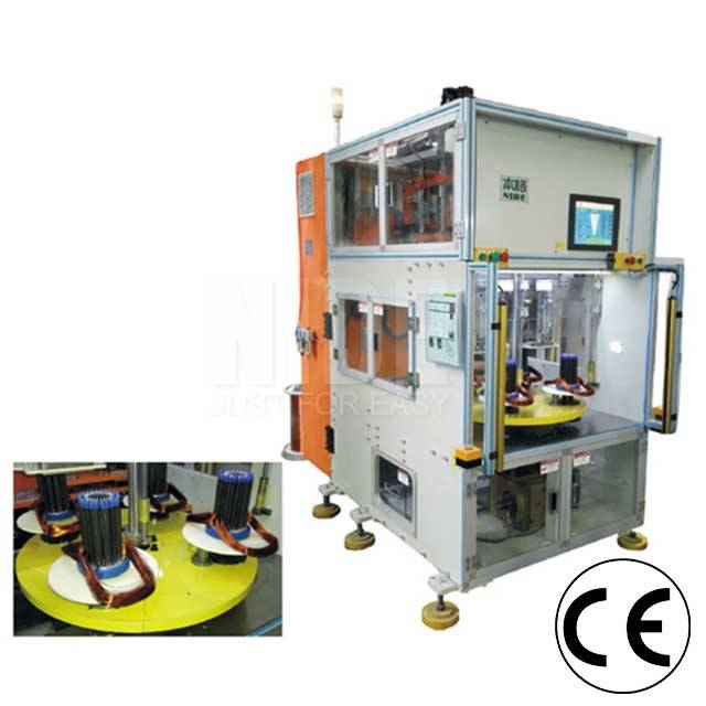 Discountable price Double Coiling Machine -  4 working stations Vertical Type Automatic Stator Wire Winding Machine – Nide Mechanical