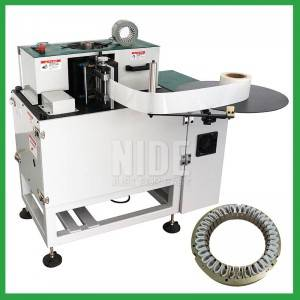 Automatic alternator stator slot insulation paper inserting machine from China manufacturer