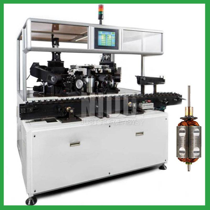 Five Working Station Armature Balancing Machine electric motor rotor cutting and testing equipment machine Featured Image