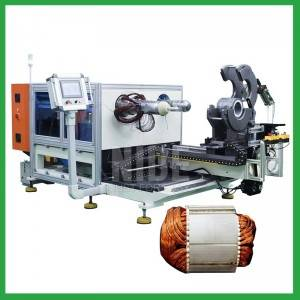 Automatic submersible pump motor stator coil inserting and expanding machine for sale -Motor manfacuturing machines supplier
