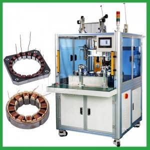 Automatic double-station BLDC brushless motor stator needle winding machine
