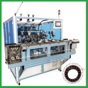 Fully automatic BLDC  inverter motor stator needle coil winding machine with 4 stations-China electric motor machine manufacturer