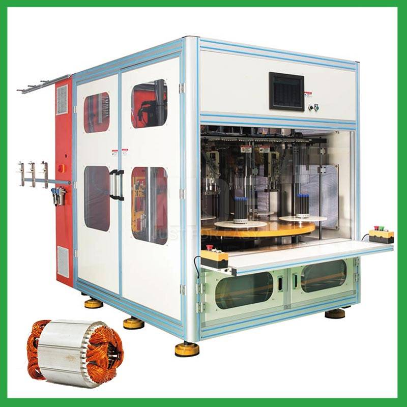 Automatic 4 stations stator coil winding machine for electric induction motor Featured Image