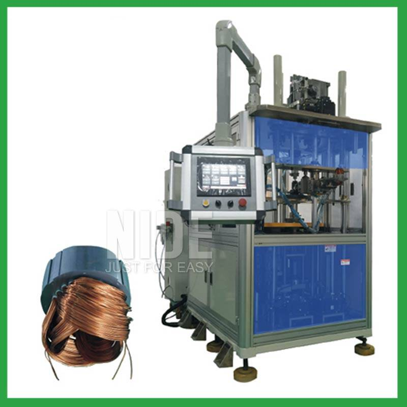 Three working stations Stator winding inserting machine for electric motor Featured Image