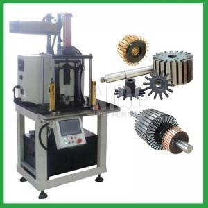 Shaft pressing end cover pressing and commutator pressing machine