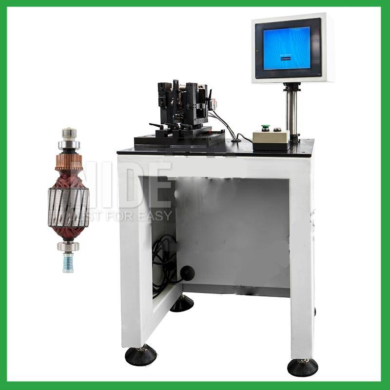 Auto-positioning home appliance and power tool motor armature balancing machine Featured Image