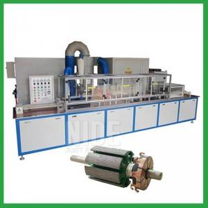 Electrostatic rotor lamination powder coating machine