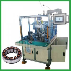 Better configuration 2 stations BLDC  stator needle winding machine