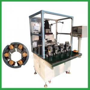 Full automatic Four stations BLDC stator inslot coil winding machine