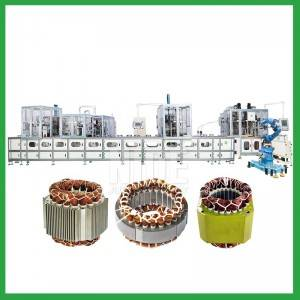 Full automatic three phase motor stator production line for washing machine