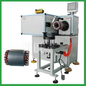 Horizontal Type Automatic Stator Coil Lacer banding machine-big pump motor manufacturing machine maker