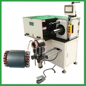 Automatic horizontal single-sided stator strapping machine