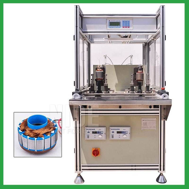 Automatic 2 stations BLDC external rotor coil winding machine Featured Image