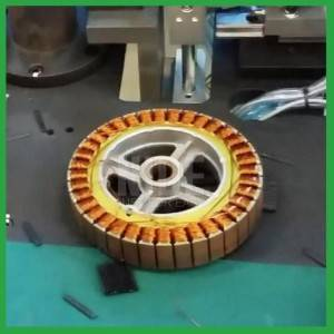 Balance Electric Motor Insulation Wheel Hub Armature Wedge Inserting Machine
