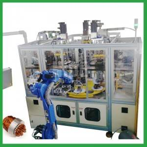 Automatic 4 station motor stator coil winding and inserting machine