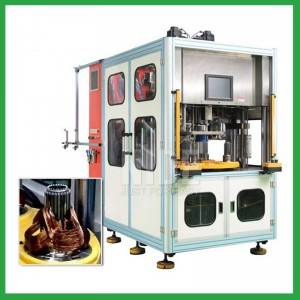 single phase motor stator coil winding and inserting machine