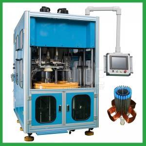 Fully automatic three stations Stator wire winding and coil inserting machine