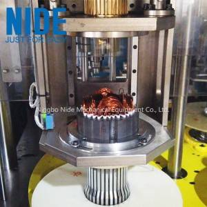 Fully auto 4 stations induction motor stator coil winder and insertion machine for electric motor manufacturing