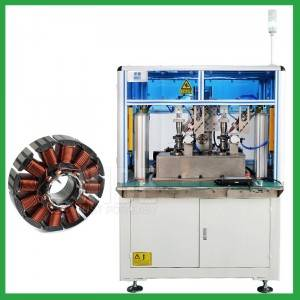 Automatic fan DC motor out slot stator winding machine for BLDC motor manufacturing-electric motor coil winding machine supplier