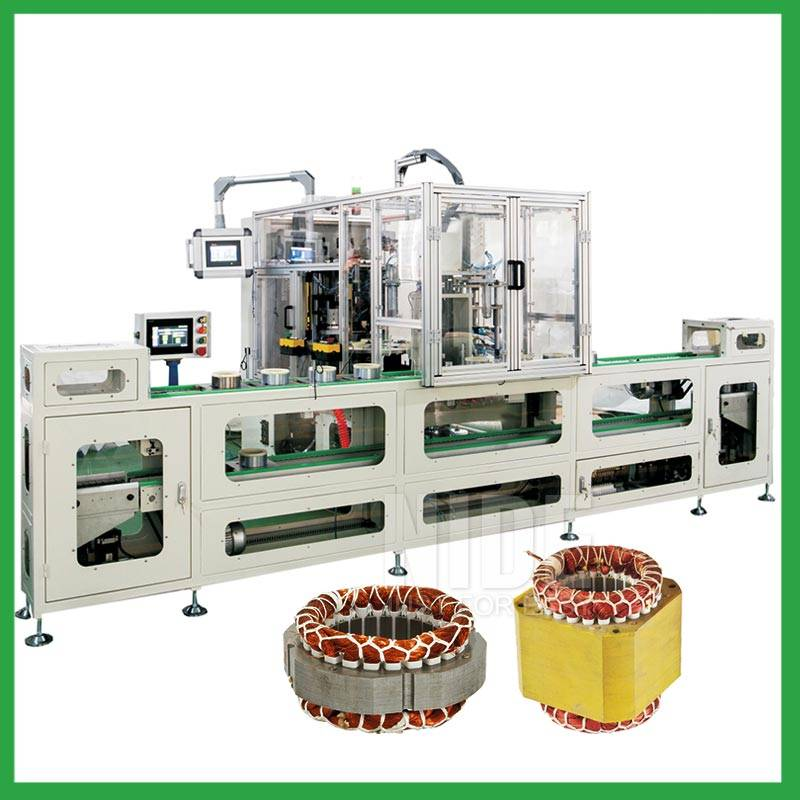 Automatic induction motor stator coil lace machine production assembly line for electric motor coil binding Featured Image