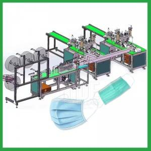 Automatic disposable earloop protective flat medical face mask making production line machine-Chine face mask machine manufacturer