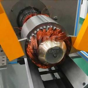 Horizontal type large motor stator winding inserting machine