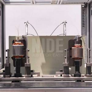 Automatic 2 stations BLDC external rotor coil winding machine