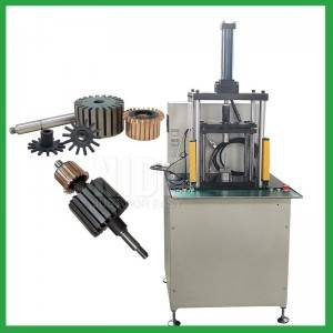 Semi automatic armature shaft commutator pressing Punching Machine for home appliance, car and power tool rotor