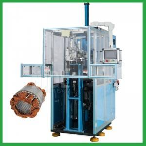 Automatic induction motor fan motor stator coil forming machine for electric motor coil forming and shaping