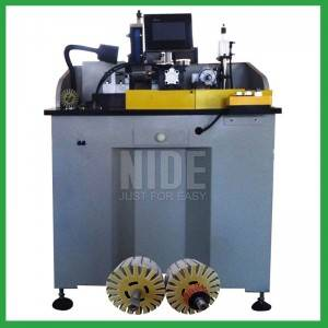 Energy Saving DC motor armature commutator finish turning lathe machine with servo system for sale