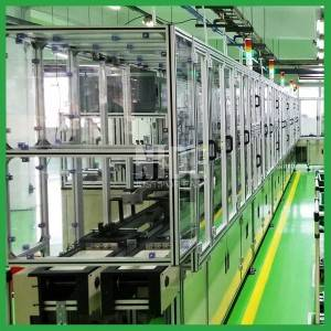 Fully automatic motor armature rotor production assembly line