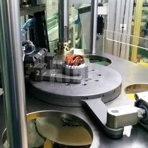 Three working stations Stator winding inserting machine for electric motor