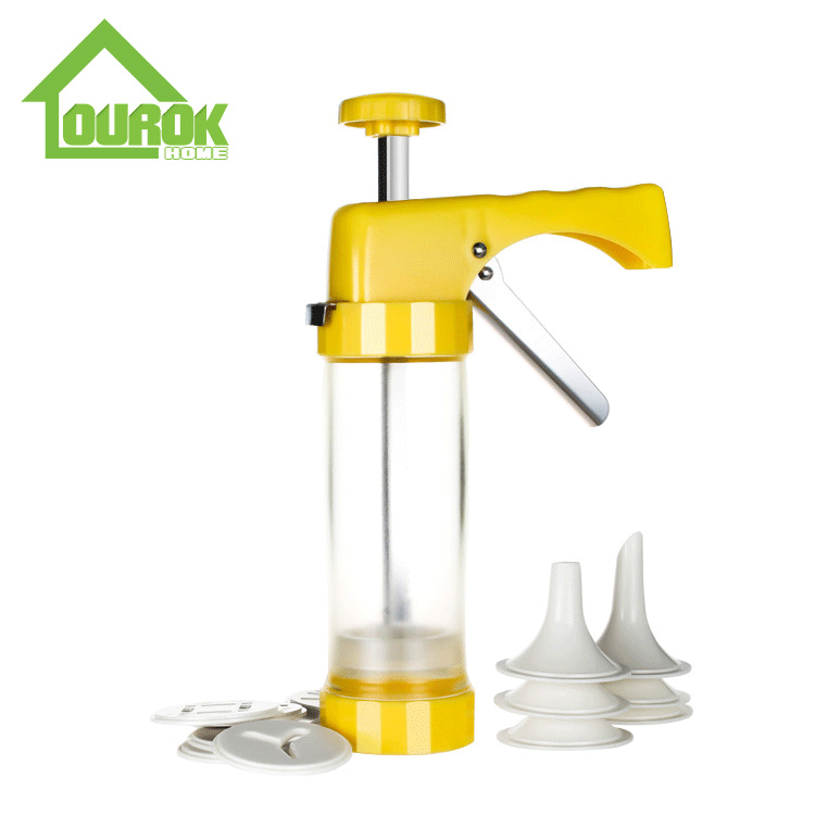 Plastic Manual Cookie Press for DIY CK101(YELLOW) Featured Image