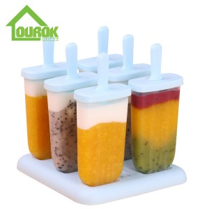 Wholesale Custom ice pop lolly mold set of 6 H115