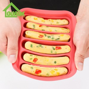 High quality silicone sausage and hot dog mold for home use H117