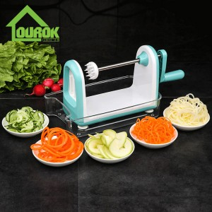 Plastic Multifunctional Manual Vegetable Spiralizer Slicer for Home Use  C317