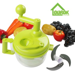 Multifunction Manual Food Chopper with Egg spoon for Home Use A138