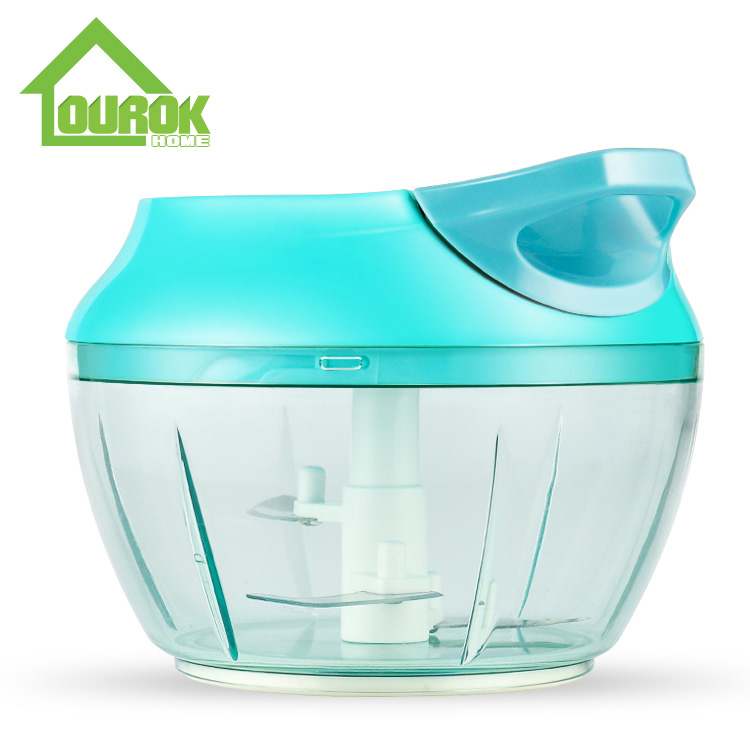 Blue New Multifunction Hand Held Pulling Food Chopper for Home Use A007( Blue) Featured Image