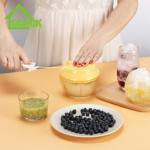 New Multifunction Hand Held Pulling Food Chopper for Home Use A007( Yellow)