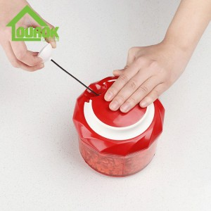 Plastic manual food and vegetable chopper for kitchen A009(Red)