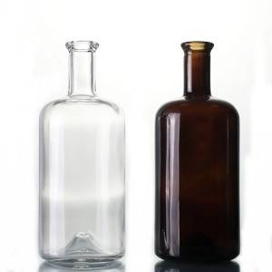 750ml Clear Glass Juniper Bottles
