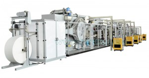 Full-servo Control Bar Type Package Winged Sanitary Napkin Production Line