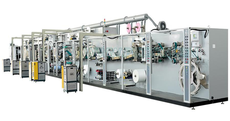 Full-servo Control Protection-leakage Sanitary Napkin Production Line Featured Image