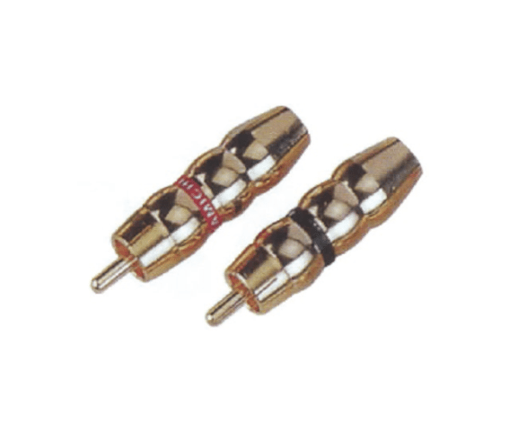 High Performance  PH7-2258 RCA PHONE MALE PLUG  GOLD PIN PLATED to Iran Factory